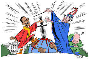 Obama and the US elections by Latuff2