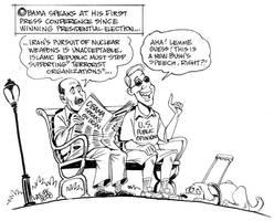 Obama speaks on Iran by Latuff2