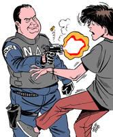 Boy shot dead by Greek cops by Latuff2