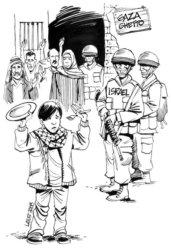 Gaza Ghetto by Latuff2