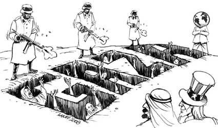 Israeli raid on Gaza by Latuff2