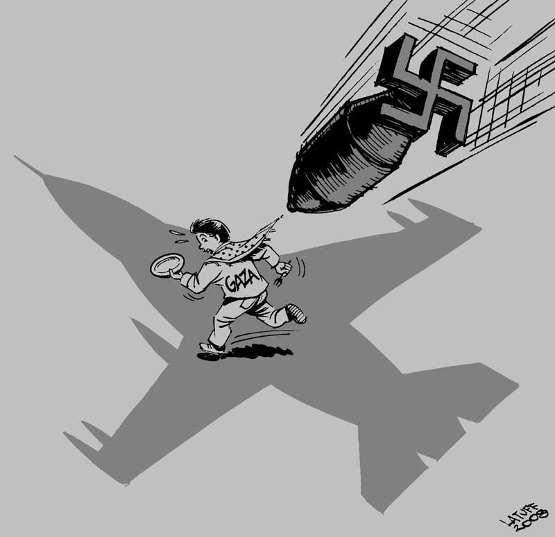 Israeli raid on Gaza 2 by Latuff2
