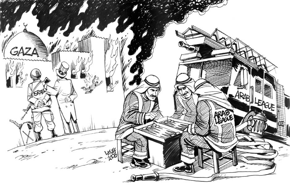 Arab League and Gaza by Latuff2