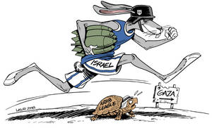 Gaza:The Rabbit and the Turtle
