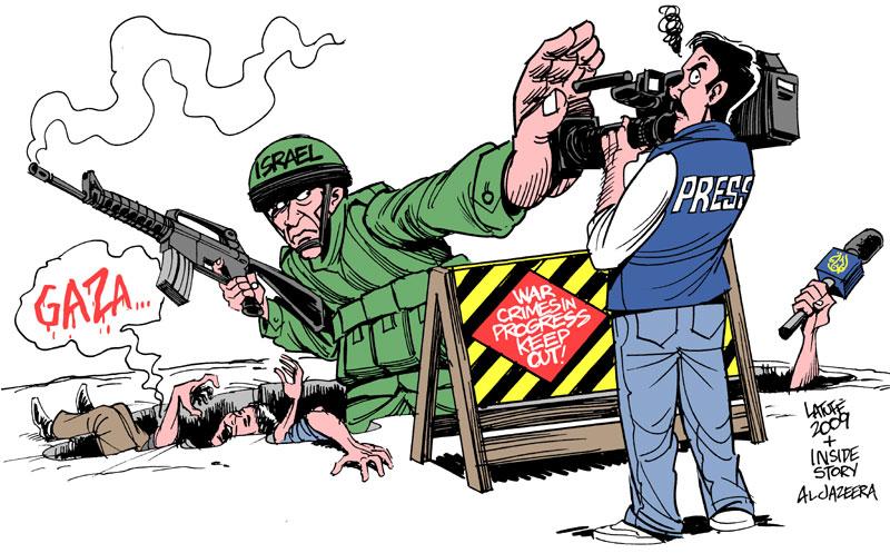 Carlos Latuff - Caricaturista Revolucionario Israel_Press_Freedom_by_Latuff2