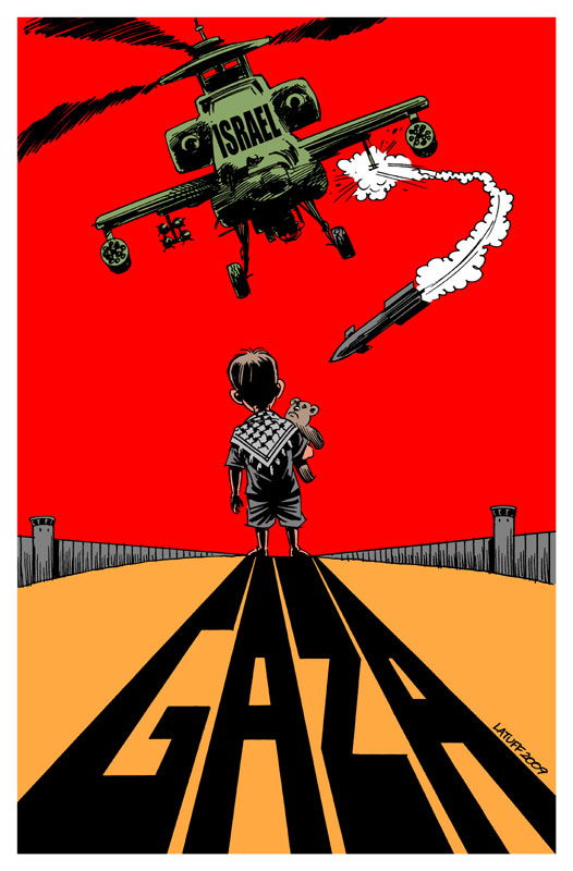 Gaza war crimes 2 by Latuff2