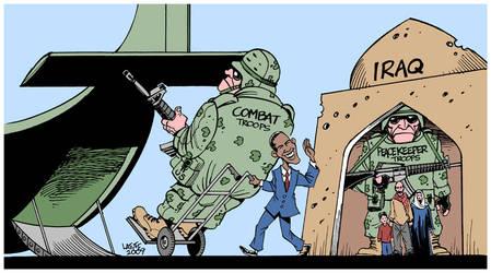 Obama's Iraq 'withdrawal' by Latuff2