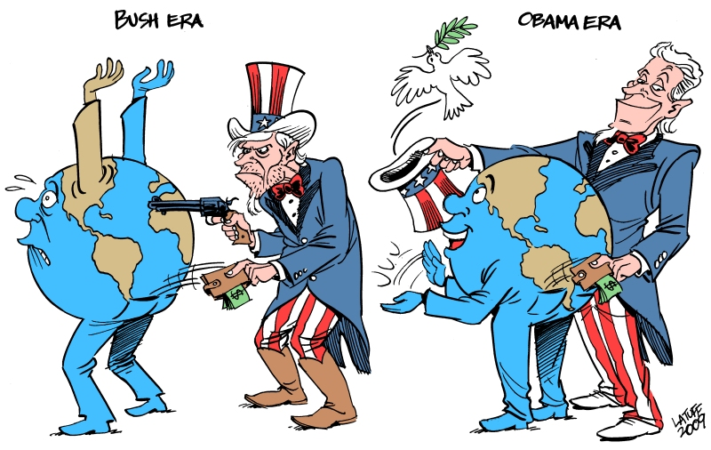 Difference between Bush and Obama