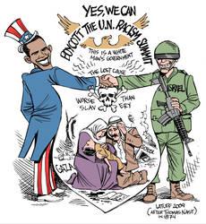 Obama boycotts racism summit by Latuff2