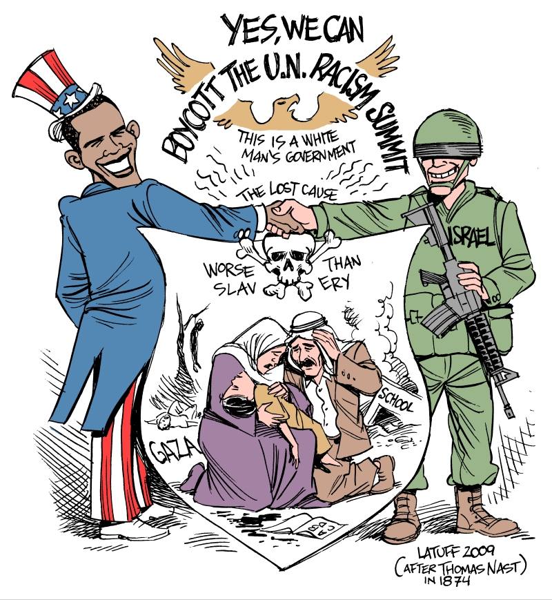 Obama boycotts racism summit by Latuff2