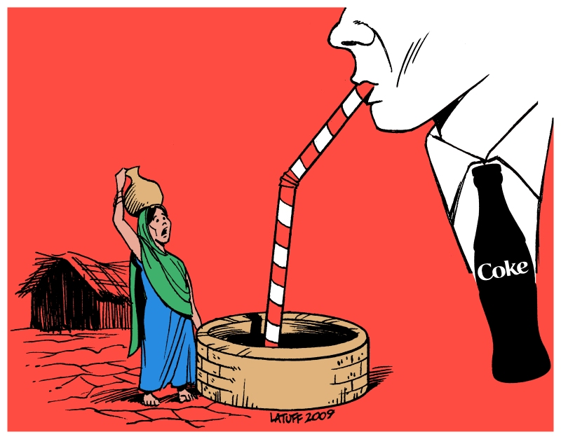 Coca Cola Crisis in India by Latuff2