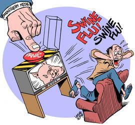 Swine Flu Hysteria by Latuff2