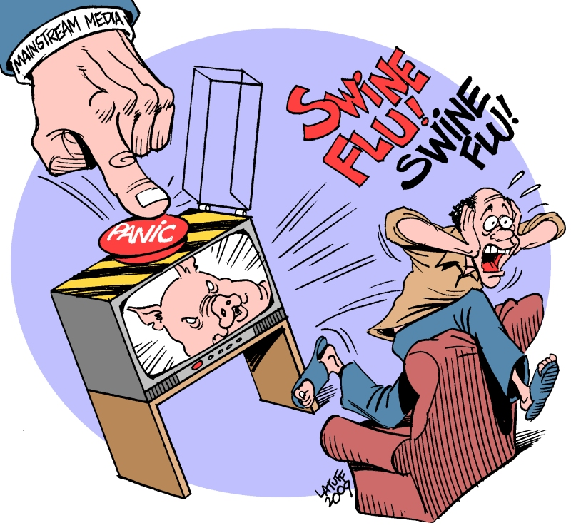 Swine Flu Hysteria by Latuff2