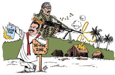 Sri Lanka rejects ceasefire by Latuff2