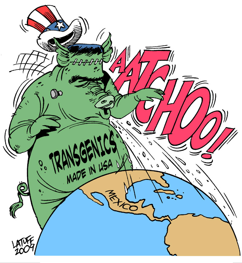 Swine Flu's Hidden Agenda B by Latuff2