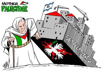 Mother Palestine Settlements by Latuff2