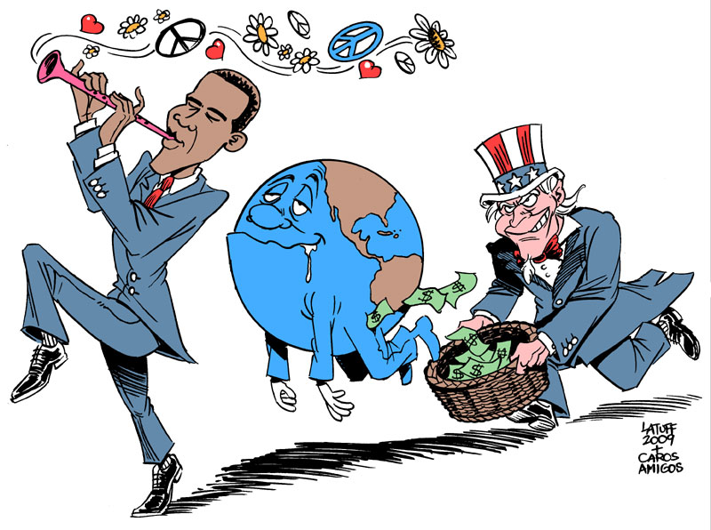 Fooled by Obama by Latuff2