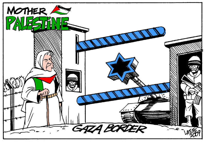 Mother Palestine Gaza border by Latuff2