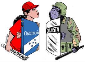 Honduras RESISTE by Latuff2
