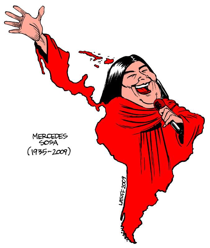 Carlos Latuff - Caricaturista Revolucionario Callo_la_voz_de_America_Latina_by_Latuff2
