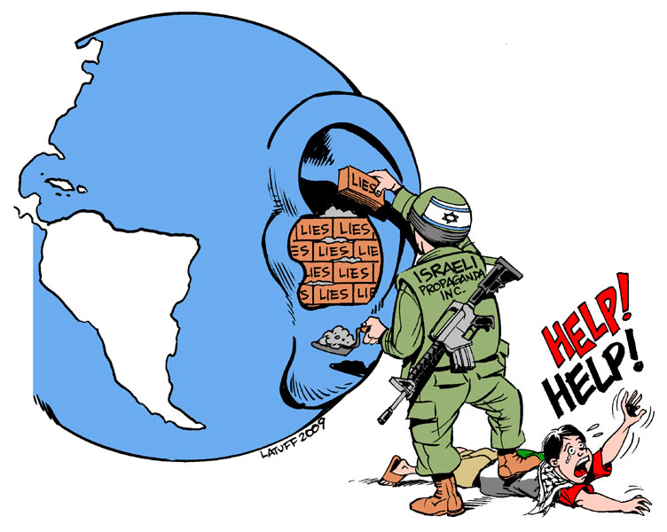 Israel Propaganda Machine by Latuff2