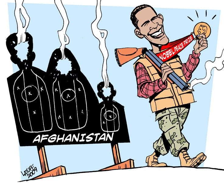 Carlos Latuff - Caricaturista Revolucionario Obama_Nobel_Peace_Laureate_by_Latuff2