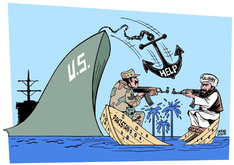 US aid to Pakistan by Latuff2