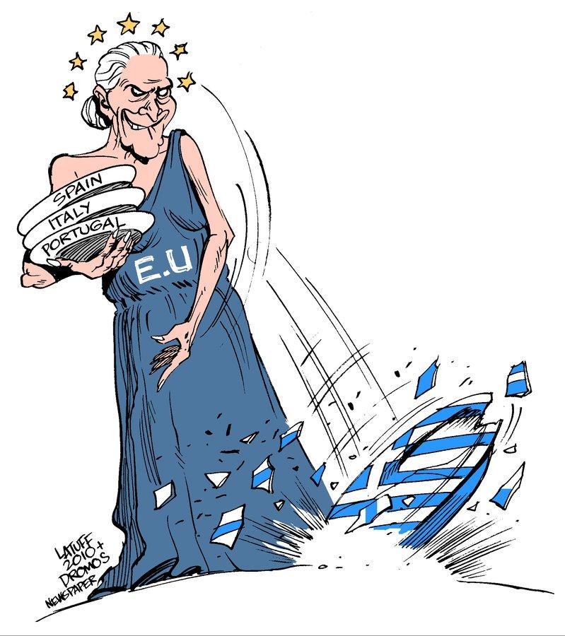 Greece economic crisis by Latuff2