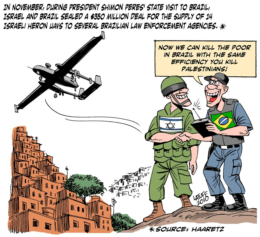 Israel exports oppression by Latuff2