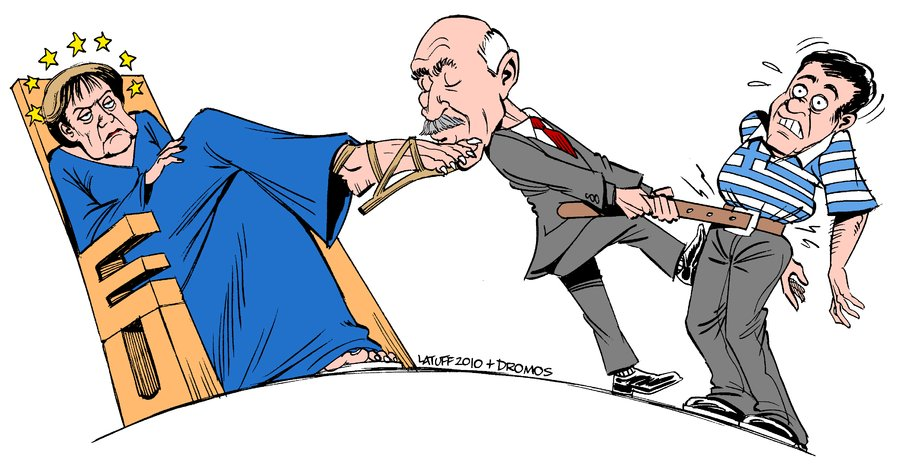 EU and Greece economic crisis by Latuff2