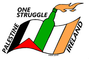 Palestine Ireland One Struggle by Latuff2