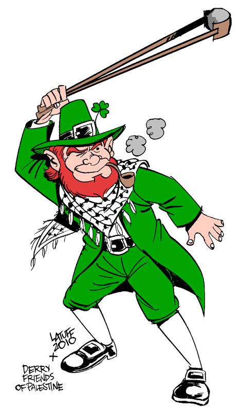 Palestinian Leprechaun by Latuff2
