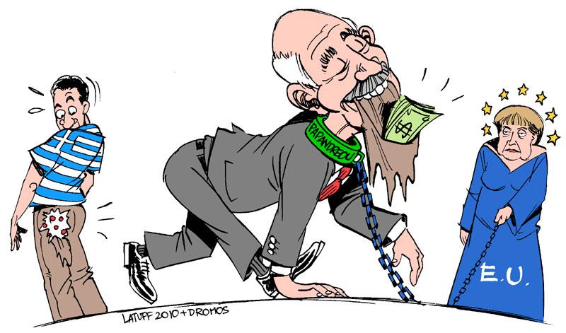 Carlos Latuff - Caricaturista Revolucionario George_Papandreou_by_Latuff2