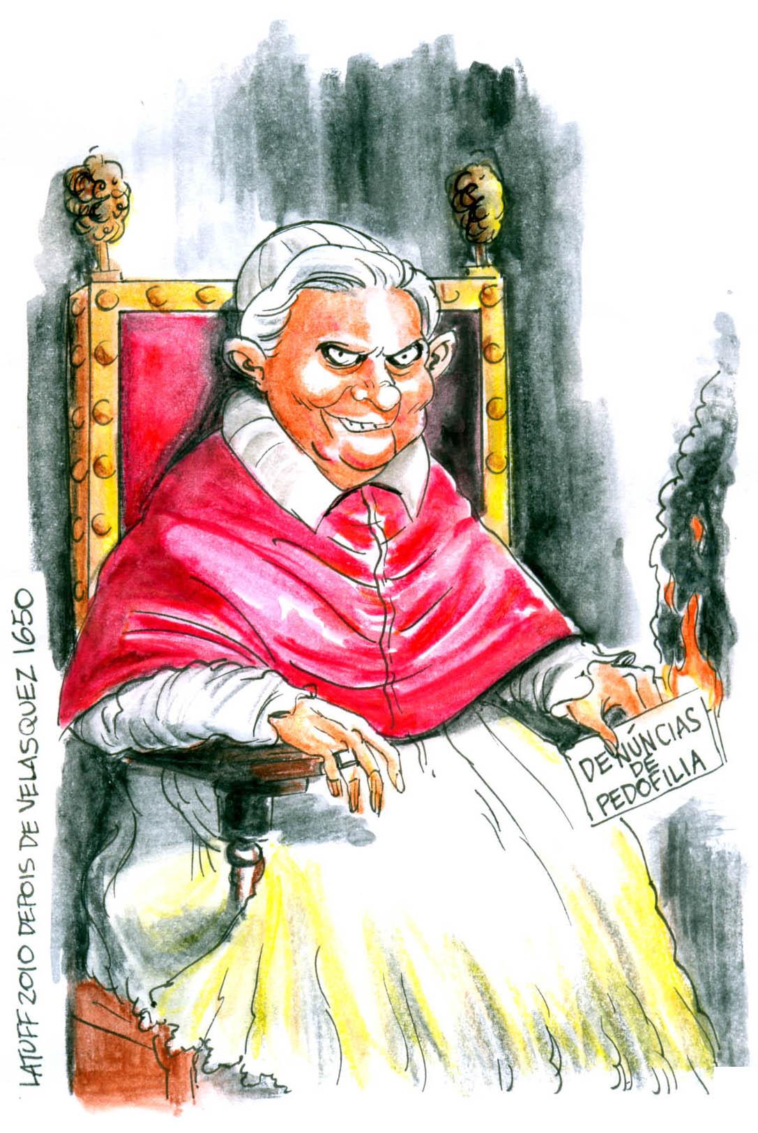 Pope Benedict XVI portrait by Latuff2