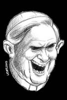 Pope Benedict XVI portrait 2 by Latuff2