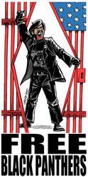 Free Black Panthers by Latuff2