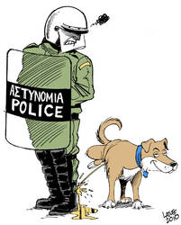 Greek riot dog