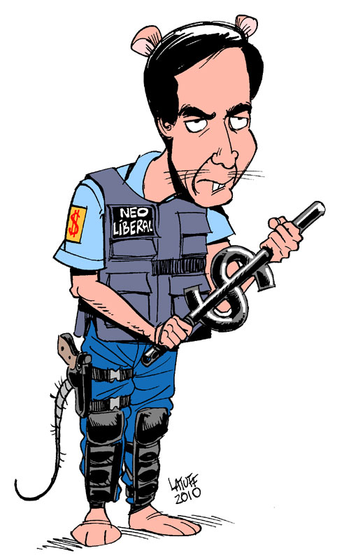 Luis Fortuno Rata Neoliberal by Latuff2