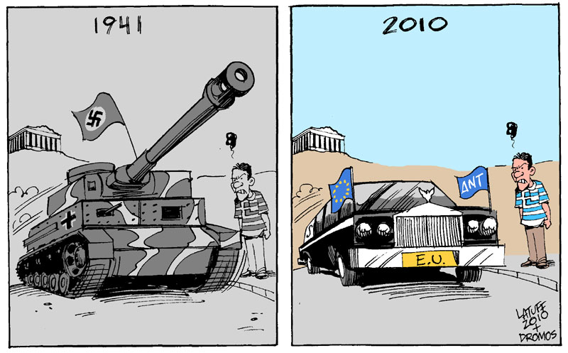 Greece under occupation again by Latuff2