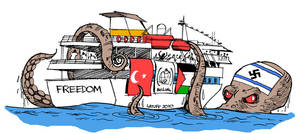 BASTARDSGaza aid ship attacked by Latuff2