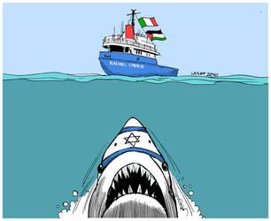 Israel threatens Rachel Corrie by Latuff2