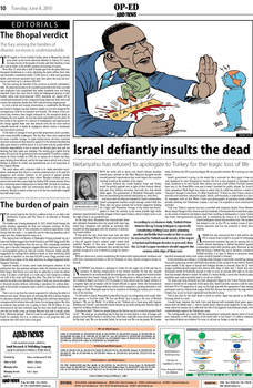 Blockade cartoon in Arabnews