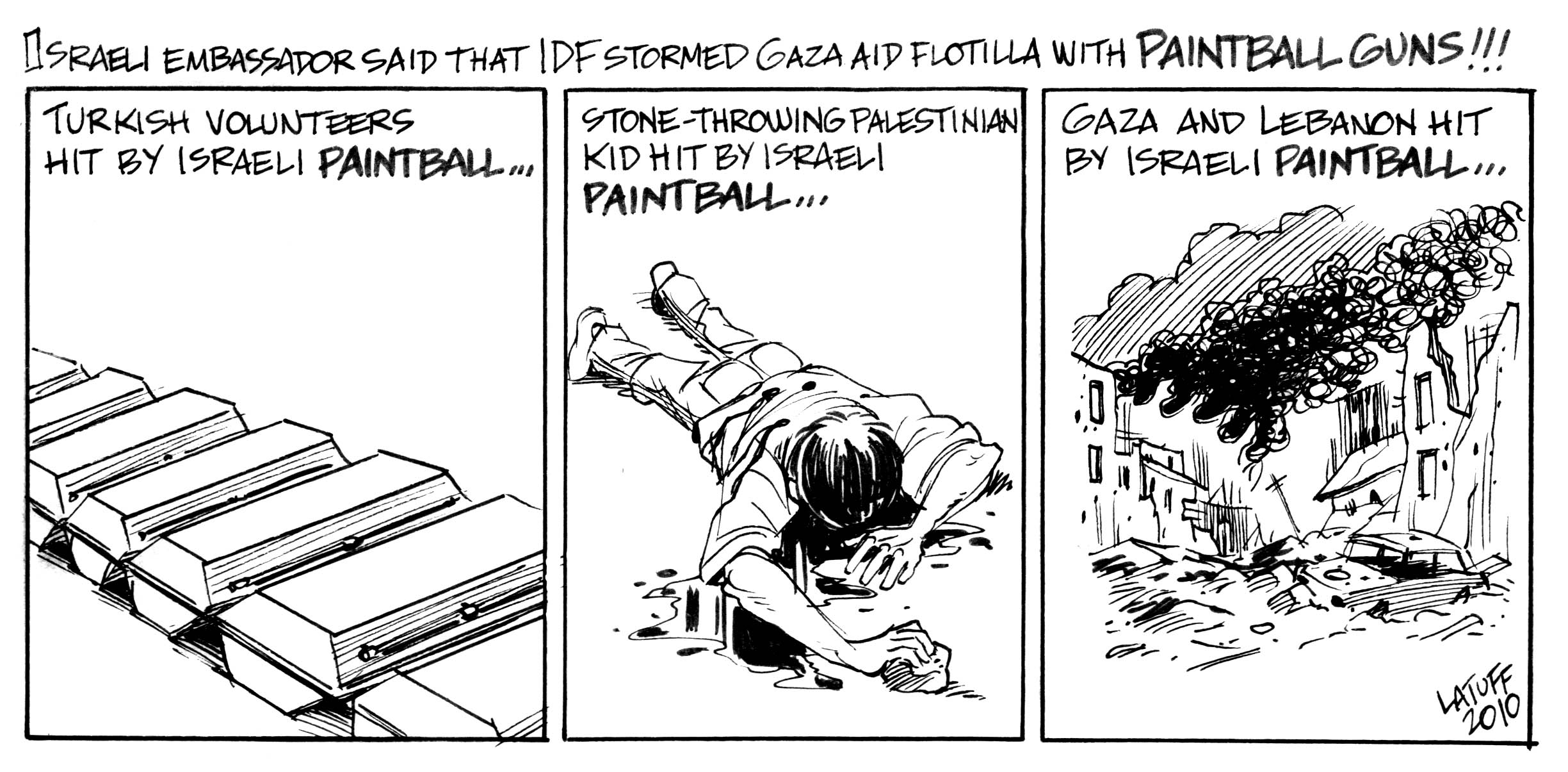 Israeli paintball that KILLS by Latuff2