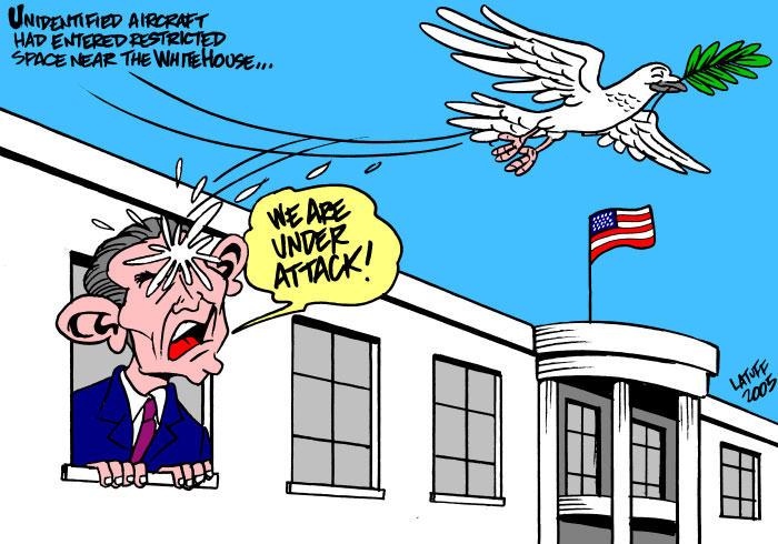 Frightened Bush by Latuff2