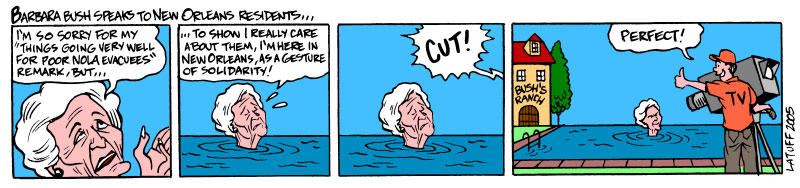 Solidarity from Barbara Bush by Latuff2