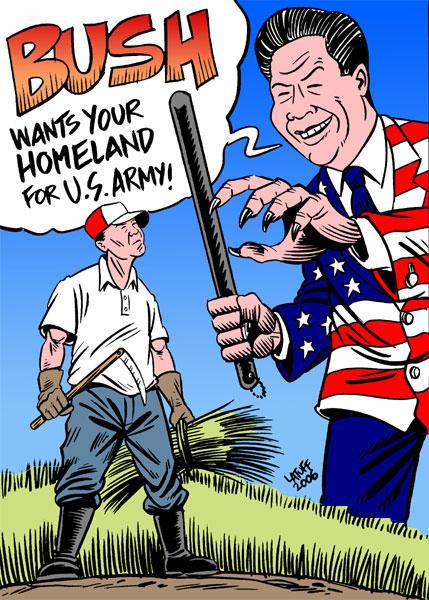 Bush wants their homeland by Latuff2