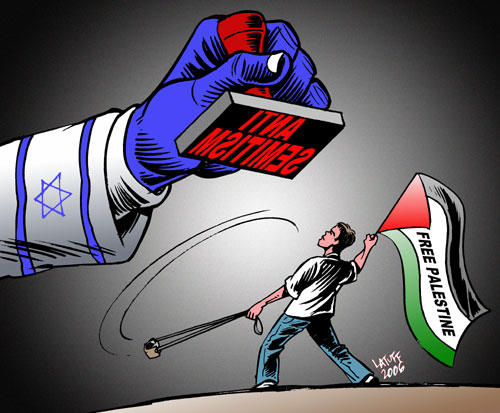 Misuse of anti Semitism 3 by Latuff2