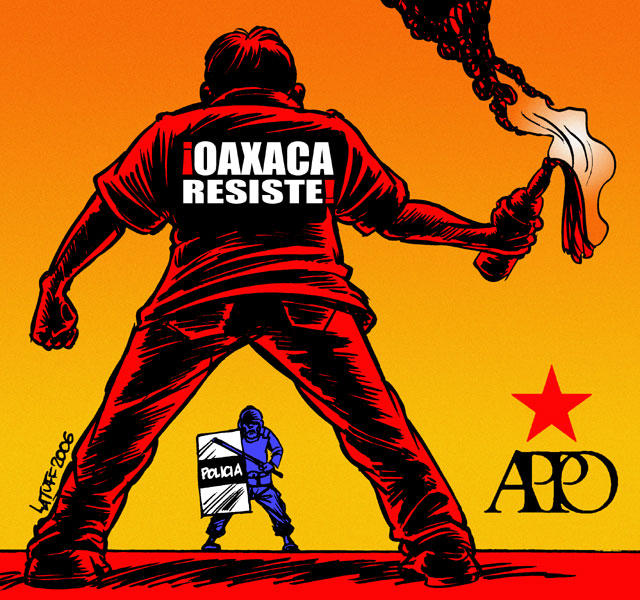 Oaxaca Resists by Latuff2