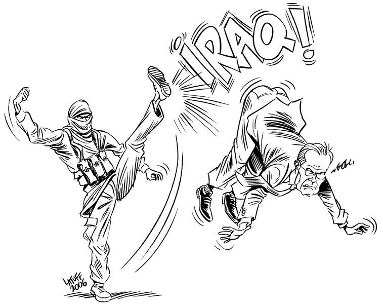 Iraqi Karate by Latuff2