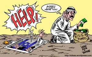 A Palestinian cry for help by Latuff2